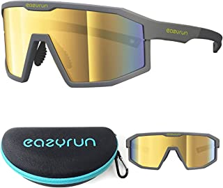 EAZYRUN Small to Medium Polarized Sports Sunglasses for Women & Men, for Running Cycling Baseball and Outdoors