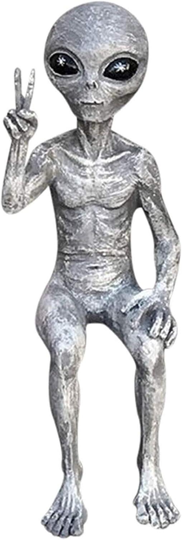 UFO Sighting See Hear Speak No Evil Roswell Alien Figurines Miniatures Extra Terrestrial Creatures Aliens Exotic Space Invaders Figurines