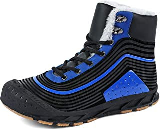 Parcclle Men's winter shoes, winter boots, women's snow boots, warm lined winter short boots, outdoor boots, leisure shoes