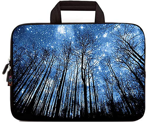 ICOLOR 14.5 15 15.4 15.6 Inch Laptop Bag Sleeve Carrying Case with Handle - Portable Chromebook/Ultrabook/Notebook/Netbook Case Pouch - Computer Protective Cover Travel Briefcase, Forest (IHB15-022)