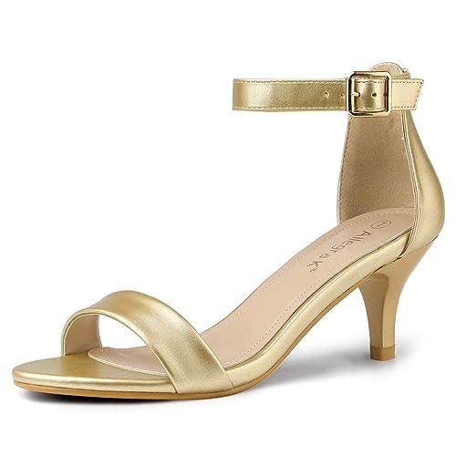 3e6700d36abc Allegra K Women s Kitten Heel Ankle Strap Open Toe Sandals