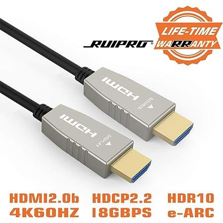 Ruipro Hdmi 2 0 Glasfaser Kabel 5m Aktives Hdmi 4k Elektronik