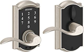 Schlage Touch Camelot Lock with Accent Lever (Satin Nickel) FE695 CAM 619 ACC