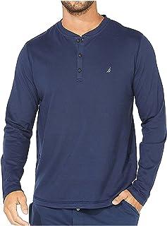 Nautica Men's Long Sleeve Henley Pajama Top