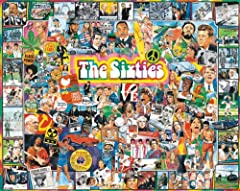 60'S FLASHBACK: A colorful jigsaw puzzle featuring popular icons and characters that will reignite our memories of and appreciation for the very stimulating era of the 60's. 1000-PIECE PUZZLE: Challenge your family and friends piecing together this i...