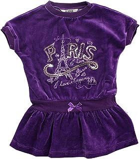 Kanz Paris Shopping - Vestido de Terciopelo para niña, Color Lila