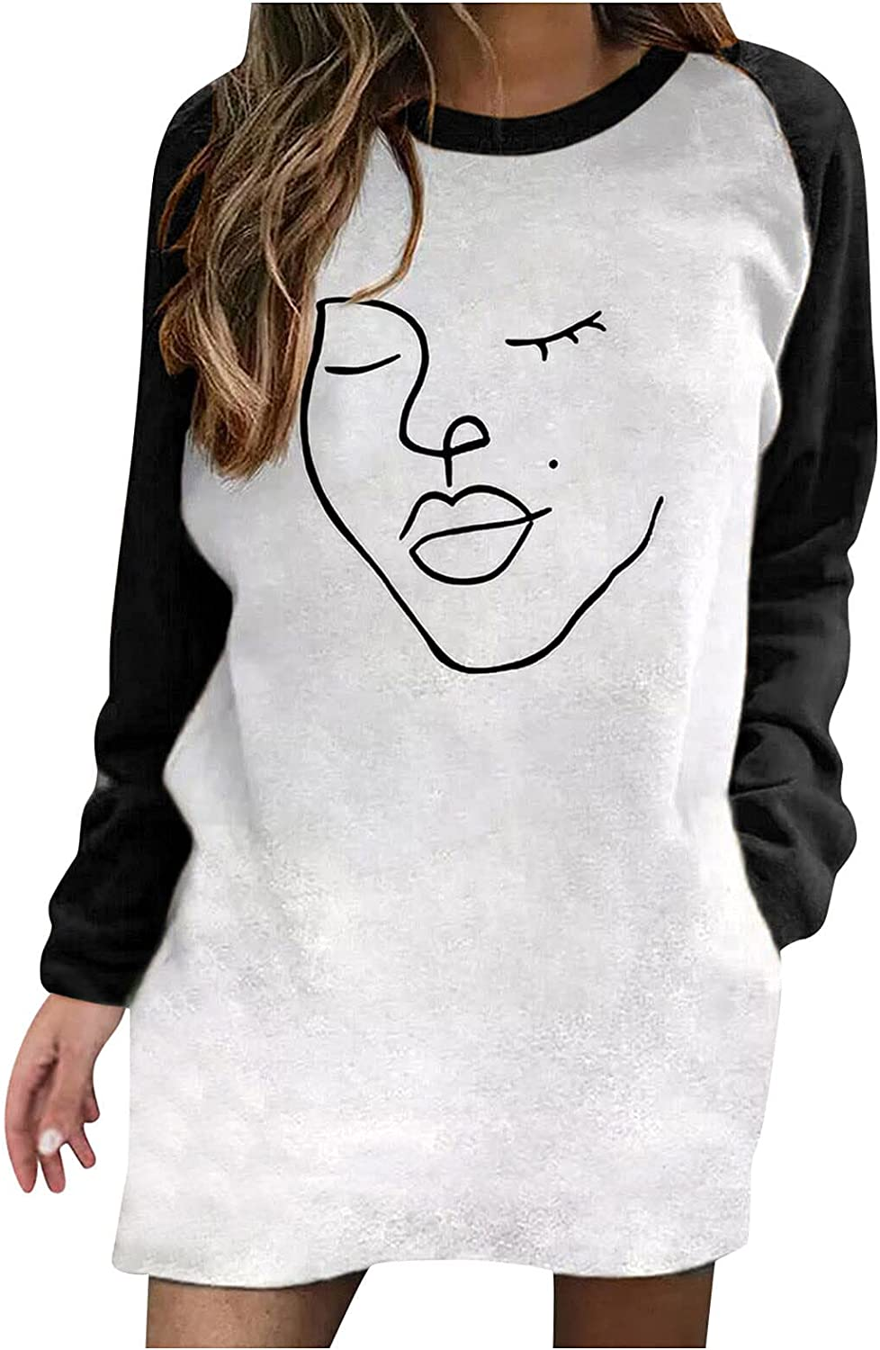 Women's Long Sleeve Sweatshirts Halloween Tops Vintage Car Graphic Pullover Comfort Casual Blouse