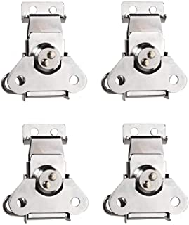 4Pcs Padlockable Steel Spring Loaded Butterfly Twist Latch and Keeper - Toggle Clamp Case Box Chest Closure