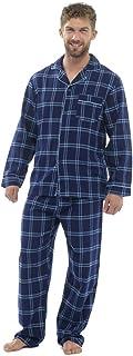 Mens Cotton Yard Dyed Check Pyjama Lounge Wear Set
