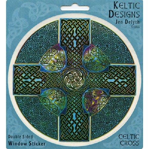 Peacemonger Keltic Designs Jen Delyth Celtic Cross Art Decal Window Sticker