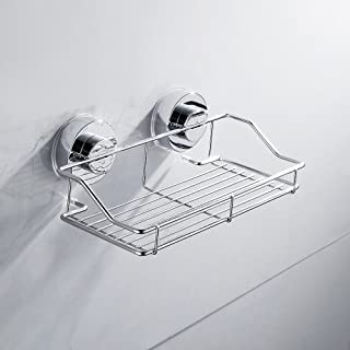 elfishjp 浴室収納 ラック 強力 吸盤 スポンジラック シンクポケット シンプルラック シャワーラック ステンレス製 水切り キッチン 浴室 お風呂 バス用品 洗面所 壁掛け インテリア ステンレス