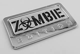 Zombie Edition Chrome Emblem with domed decal Car Auto motorcycle bike Badge CBEDI-ZOMBIE