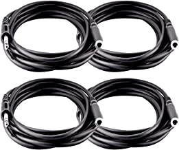 Seismic Audio 4 Pack of 12 Foot Headphone Extension Cables-1/4 Inch Male to TRS Female (SA-HPE12-4Pack)