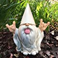 """Ottawa Naughty Garden Gnome White Old Man Statue - 5"""" Tall Resin - Garden Gnome Indoor or Outdoor Decorations for Patio,Lawn,Yard Art, home and office Decoration"""