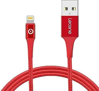 Lecone Cavo Lightning a USB, 2M Cavo di Ricarica USB Certificato Apple Mfi Intrecciato in Nylon Compatibile con iPhone XS ...