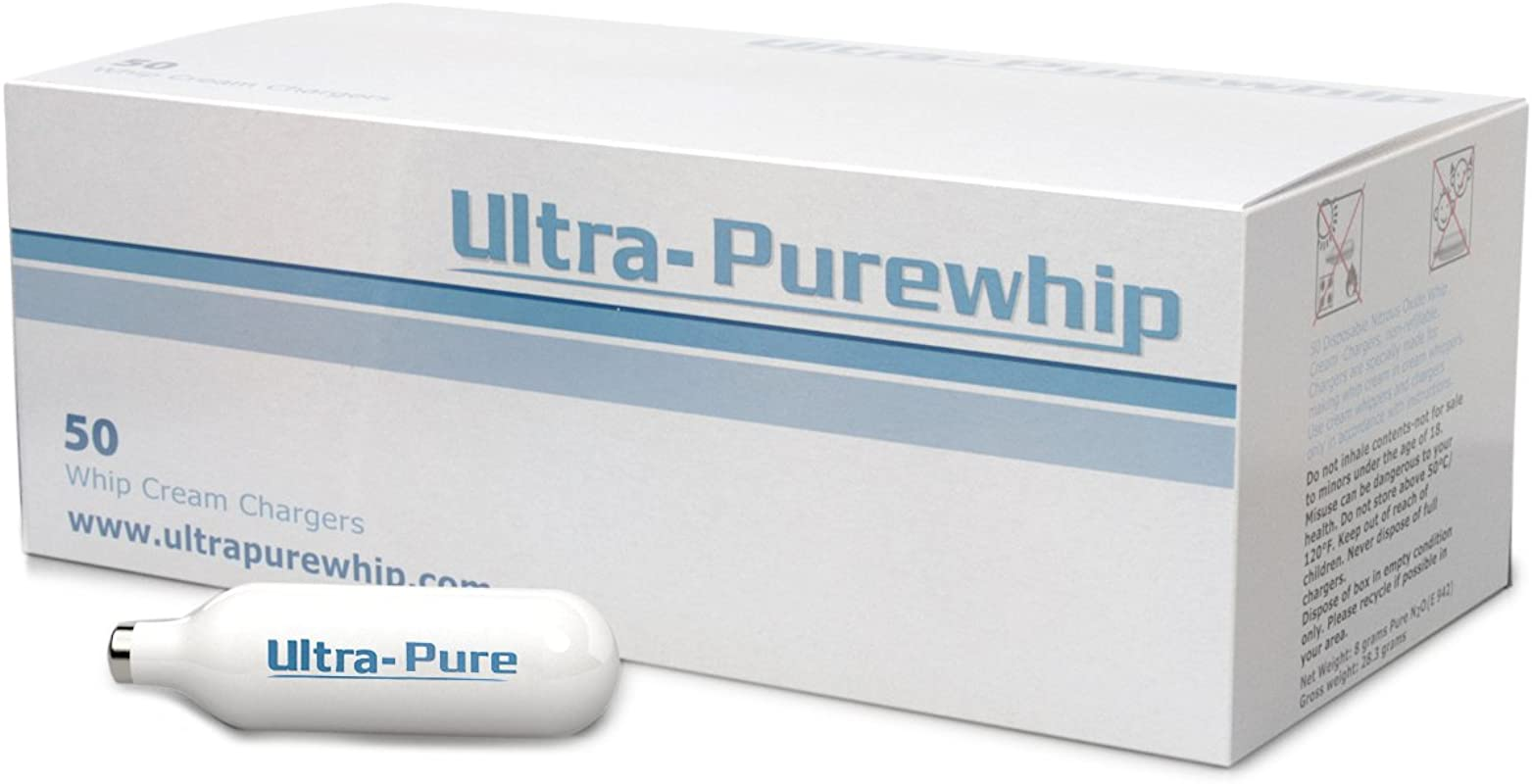 Creamright Ultra Purewhip 50 Pack N2O Whipped Cream Chargers