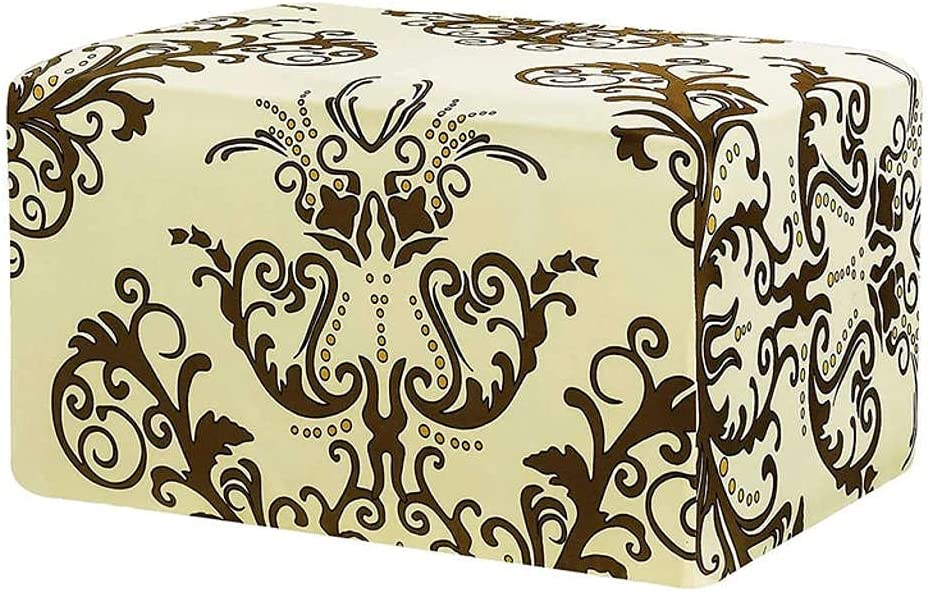 Purchase Printed Ottoman Free shipping / New Slipcovers Rectangle Footstool Stretch Protecto