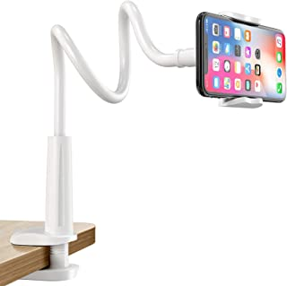 Wisfor Gooseneck Tablet Stand Holder, Bed Desk Mobile Mount with 360°Flexible Arm Lazy Cell Phone Holder for iphone 12 Pro...