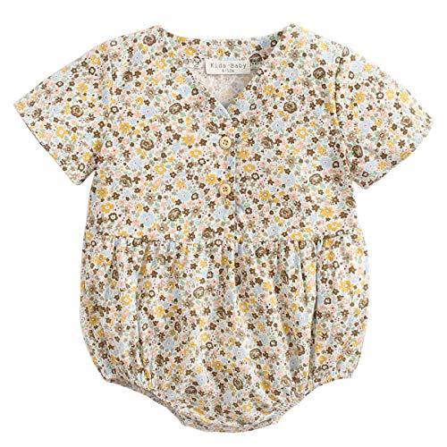 Baby Kimono Japonés Robe Unisex Mameluco de Algodón Infantil Cómodo Pijamas Sueltos (I-3 Yellow,2-3 Años)
