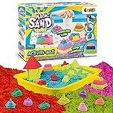 CRAZE Magic Sand Activity Box 700 g de Arena para amasar de Colores, sin BPA ni Gluten, Arena para Interior amasable, con Accesorios, 32343, Bicolor