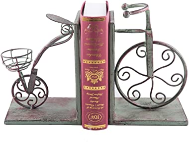 Fasmov Vintage Style Bicycle Bookends Art Bookend, Green