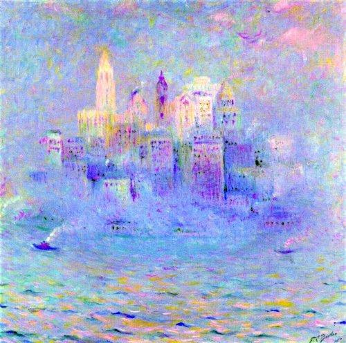 "Art Oyster Theodore Earl Butler Lower Manhattan - 20"" x 20"" Premium Canvas Print"