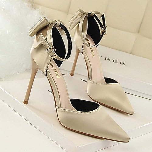 XSY Escarpins pour Femmes Escarpins pour pour pour Femmes Chaussures De Mariage pour Femmes Escarpins pour Les Les dames Chaussures Papillon-Noeud Chaussures De Soirée élégantes 663