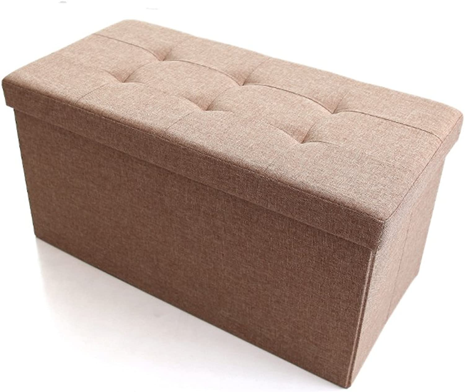 ZHANGRONG- Multi-Functional Storage Stool Cloth Folding Storage Box Can Take People Storage Box Rectangular Sofa for shoes Stool Sofa Stool (color Optional) (color   A)