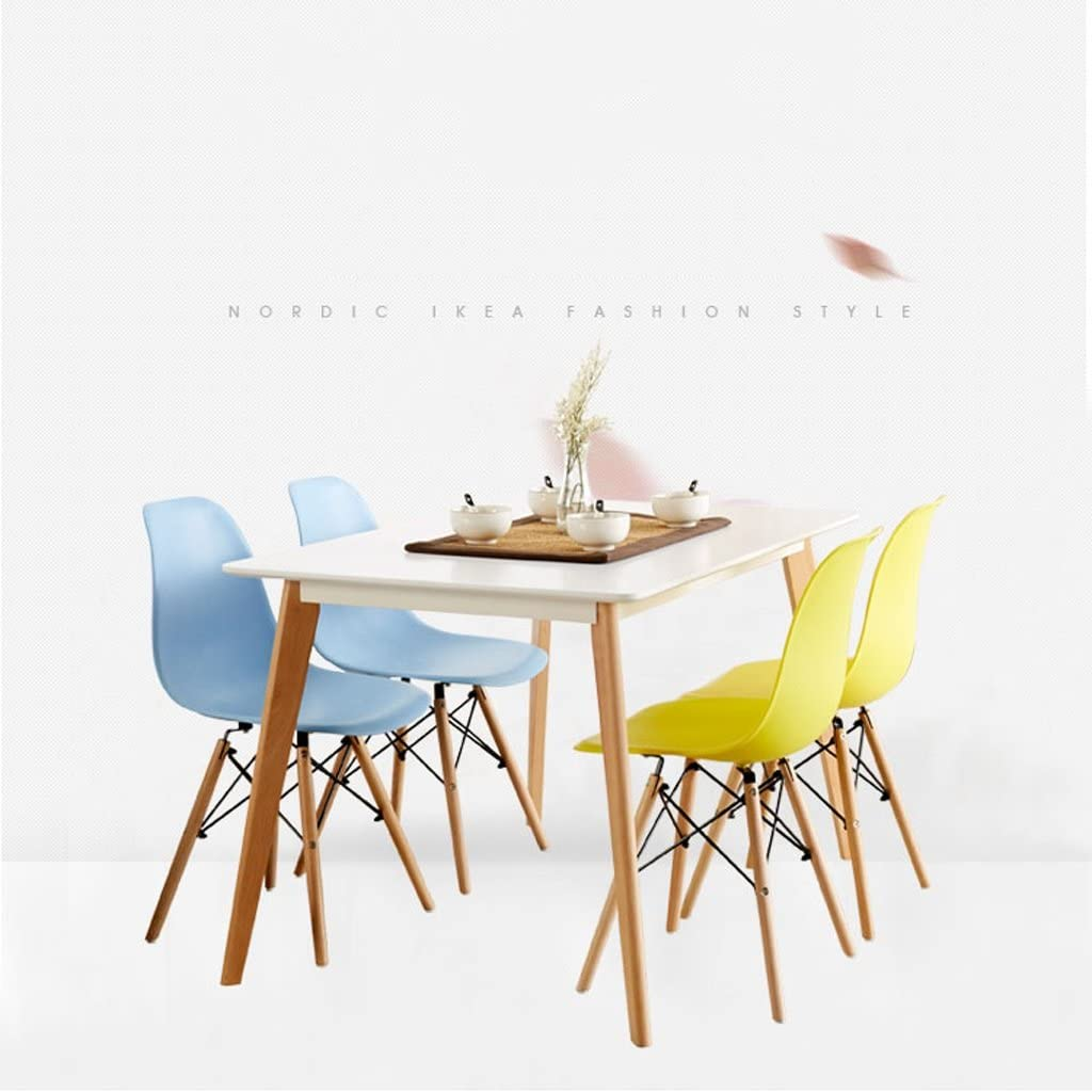 Chaise de salle à manger chaise de tabouret de bureau adulte en plastique (Couleur : E) D