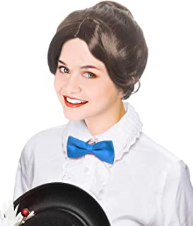 Costume Adventure Brown Victorian Style Character Bun Wig