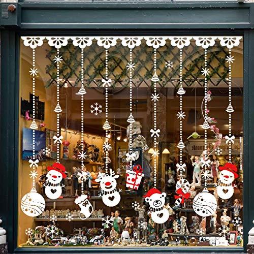 Tuopuda® Natale Vetrofanie Rimovibile Adesivi Murali Fai da te Finestra Decorazione Vetrina Wallpaper Adesivi (pupazzo di neve)