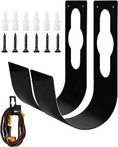 Garden Hose Holder, 2 Pack Durable Heavy Duty Metal Hose Hanger Hook, Rust-Free Hose Storage Fit to 25ft/50ft/75ft/100ft Hose