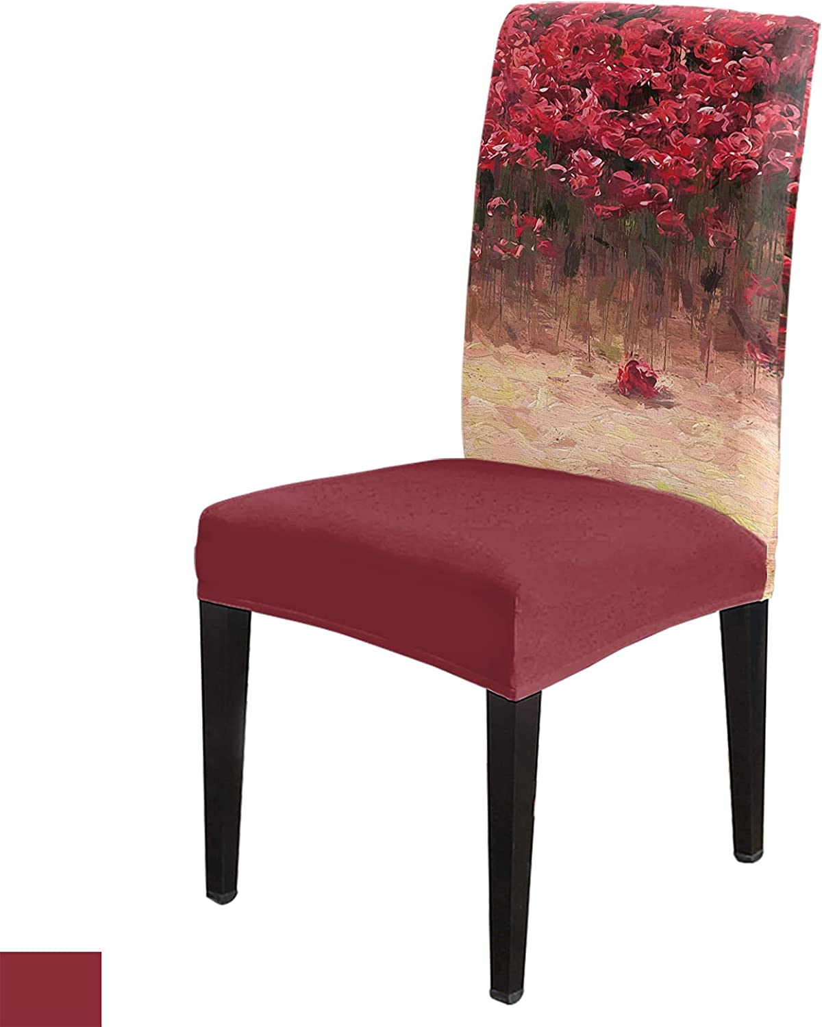 Flower Chair Slip Cover Set of with Elasti Seat Covers 6 Dining Choice Limited Special Price