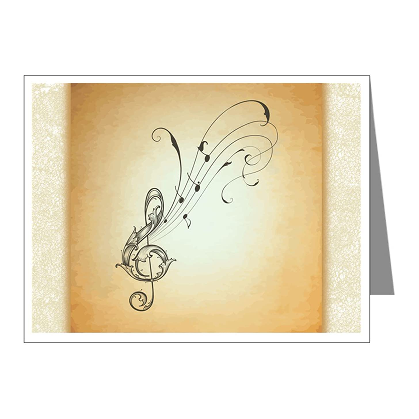 X-Large Greeting Card Musician Treble Clef Music Notes