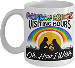 Dog Coffee Mug - How I Wish that the Rainbow Bridge had Visiting Hours! - Gift Idea for a Dog Lover White Ceramic Mug 11 ounce