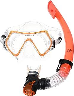 Fun Swimming Diving Mask and Snorkel Set - Orange