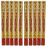 Partyjoker 10 XXL Konfetti Shooter Bunt 60cm für Geburtstag Silvester | Extra lauter Knall | Konfettikanone mit Hoher Schussweite