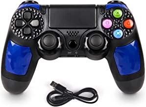 SADES C600 PS4 Controller Wireless Joysticks - Dual Shock 4 Game Remote,Bluetooth DS4 Gamepad,Support Playstation 4,Pro/Slim PS4,PC,PS,Smart TV(Blue)