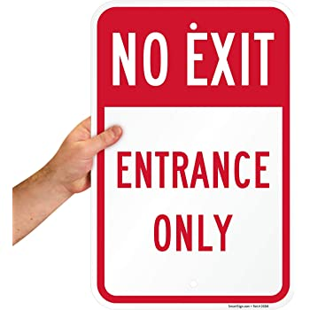 Aluminum Metal 4 Pack 12x18 Exit Red Sign Large Retail Door Signage Business Directional Signs