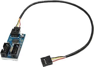 フェリモア USB マザーボード 増設 USB拡張 ヘッダピン 3Mジェル ケーブル付き 9ピン (3個セット)