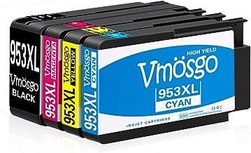 1 Negro,1 Cian,1 Magenta,1 Amarillo JARBO 953XL Reemplazo Para HP 953 XL Alta capacidad Cartuchos de Tinta Compatiable con HP OfficeJet Pro 7740 8218 8710 8720 8730 8740 8715 8725 8719 8718 8728