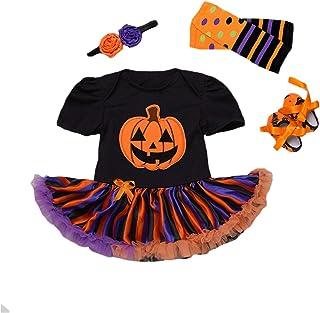 Disfraz Bebe Halloween Vestido Tutu Bebe Niñas 4Pieza