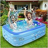 ファミリープール 150X110X50cm 水遊びプール PVC ジャンボプール ウォーター家庭用 夏の日 夏対策 こども用 170CM直径 補修ツール付き おまけ【ブルー】