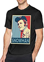 Longhx Mens Vintage Jerry Reed Snowman Smokey Tees Black