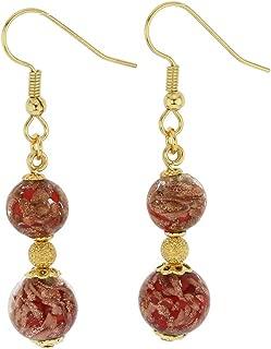 GlassOfVenice Murano Glass Laguna Earrings - Red