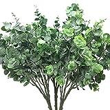 Aisamco Lot de 3 Branche de Feuilles D'Eucalyptus Argenté Feuillage Fleurs Artificielles Plantes Artificielle Tiges pour Fête Mariage Décoration de la Maison