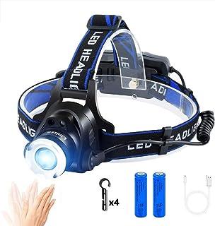 ヘッドライト LED ヘッドランプusb充電式 IP65防水 高輝度CREE T6 人感センサー電池残量指示ランプ 角度調節可能 ズーム機能 登山 防災 夜釣り キャンプ 作業用 ヘルメット ライト Linlzkm