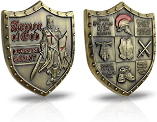 AtSKnSK Put On The Whole Armor of God Challenge Coin Eph 6:13-17 3D Commemorative Collection Item
