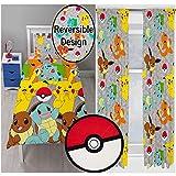 Pokemon fangen einzelne Rotary Bettbezug + 72' Drop Vorhänge + geformten Wolldecke