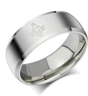 Aundiz Homme Acier Inoxydable Bagues Promettre Briller Marriage Argent Bague